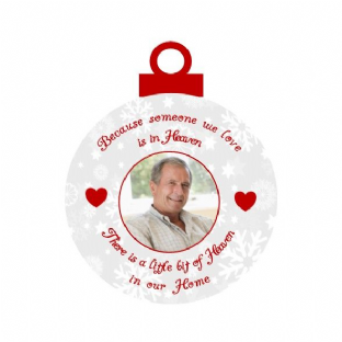 Memorial Photo Acrylic Christmas Ornament Decoration